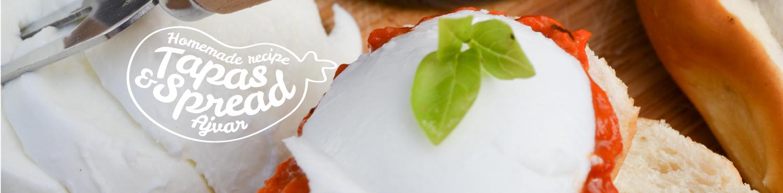 marissas choice tapas en spread met mozzarella